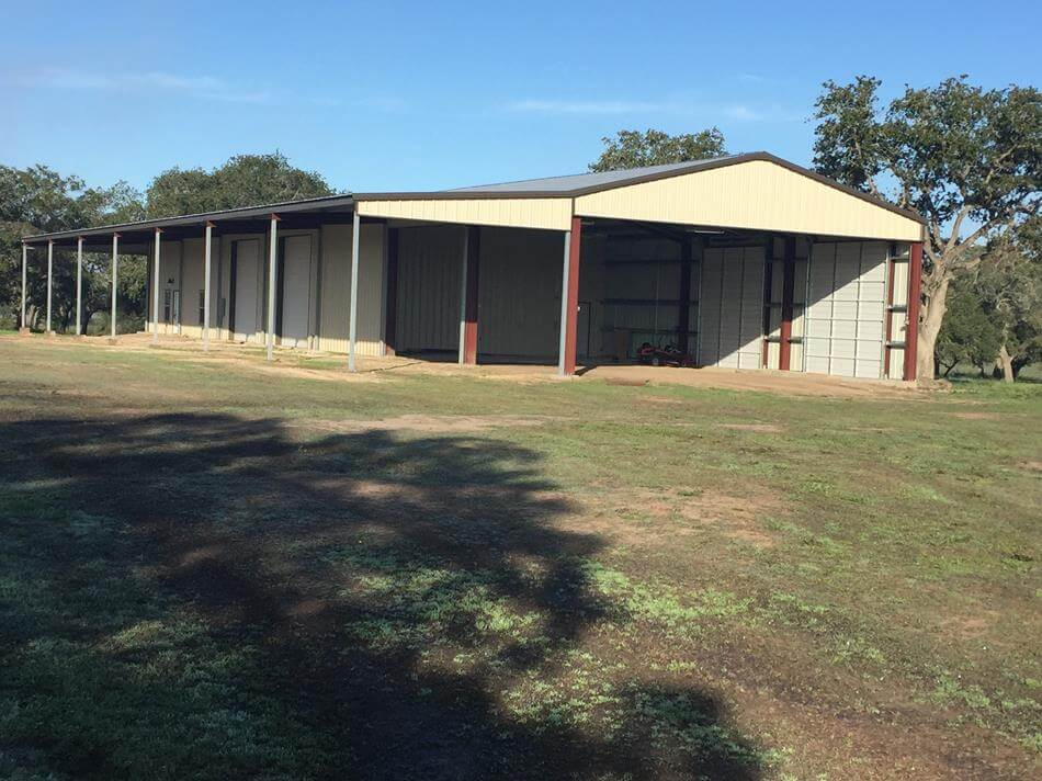 Agricultural steel metal building erector contractor for 3 bay shed