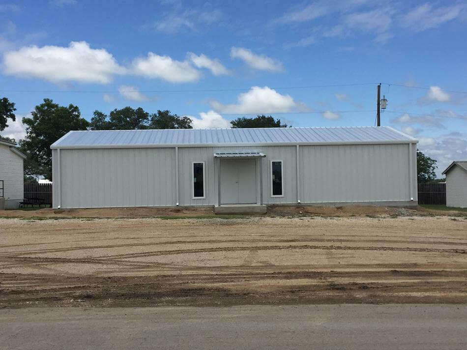 Commercial steel metal building erector contractor for Metal houses texas