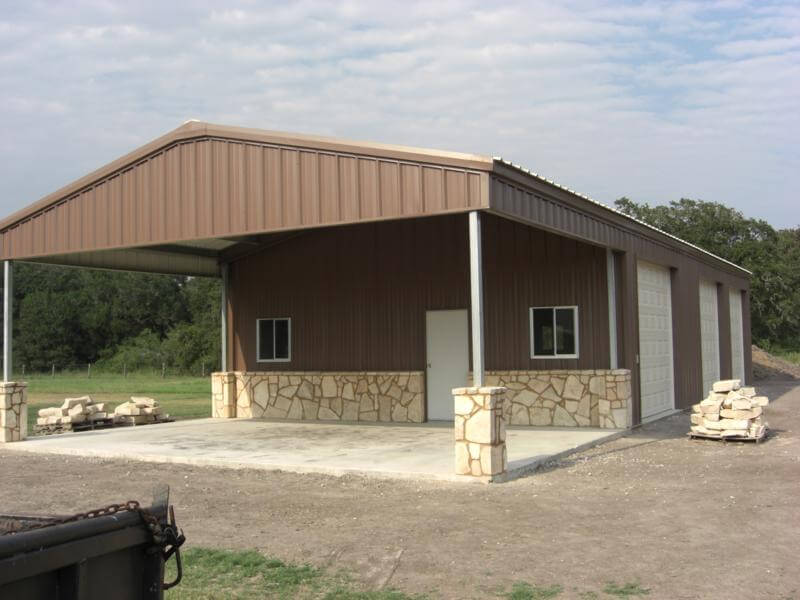 Residential steel metal building erector contractor for Metal barn pictures