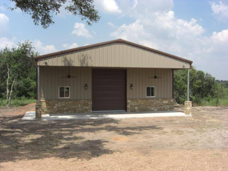 Residential steel metal building erector contractor for Steel garage with living quarters