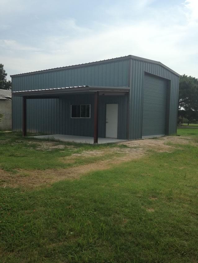 Residential steel metal building erector contractor for Rv boat storage buildings
